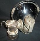 LOT OF 2 VINTAGE MINERS LAMPS AUTO LITE 1930S ANTIQUE CARBIDE MADE IN USA LK