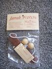 SEALED Vintage Hand Made Australia Jarrah Fine Wood Two Bead String Puzzle