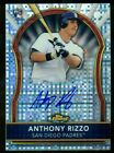 2011 Topps Finest Anthony Rizzo Padres Rookie Refractor Autograph 191 299 (AS)