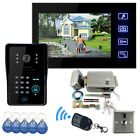 7 Color LCD Video Door Phone Doorbell Touch Key With Electronic Lock IR Camera