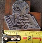 Antique Print Press Block Stamp Let children come to me