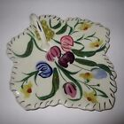 Blue Ridge Pottery Easter Parade Handled Leaf Plate Dish