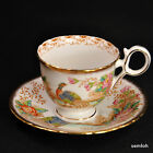 SAUCER 1936-1941 #2830 EXOTIC Chelsea Bird PINK FLOWERS w/GOLD