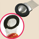 Onion Tomato Slicer Cutting Aid Holder Guide Slicing Cutter Fork Stainless-Steel