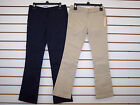 Girls Dockers Navy or Khaki Skinny Stretch Bootcut Uniform Pants Size 5 14