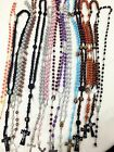 Closeout 12pc Mix Lot wholesale Religious Rosary Crucifix Cross Necklace USA