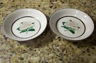 EMBASSY AMERICAN GRAY ROSE FRUIT - DESSERT BOWLS PORCELAIN REPLACEMENT SET OF 2