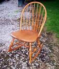 Stone Maple Colonial Style Curved Spindle Back Rocking Chair