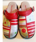 Hanna Andersson Red Multi Colored Clogs Shoes Sz 26 9 EUC