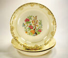Sheffield USA Indian Tree (3)  Soup Bowls  23K Gold Accent White (SH1)  Vintage