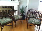 Vtg Mid Century / Hollywood Regency McGuire Bamboo Dining Chairs - Set of 4