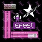 2 Efest Purple IMR 18650 3000mAh/35A High Drain Flat Top Rechargeable Battery c