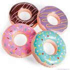 4 JUMBO FROSTED DONUT Shaped Inflatables Blow Up Pool Party Favor Toys luau