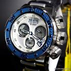 Invicta Reserve Subaqua Sea Dragon Swiss Made Blue White Chrono 52mm Watch New