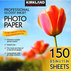 Kirkland Signature 85 x 11 Professional Glossy Photo Paper 150 Sheets New