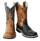 children youth sizes cowboy boots leather square toe rodeo boys western best