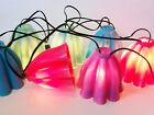 Vintage Plastic Tiki String Patio Party Lights Lanterns Multi-colored 6