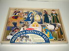 Melissa  Doug Wood Wooden Nativity Set Christmas First Noel Playset Sealed New