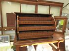 RARE c1882 hardware country store ROTATING bolt bin cabinet MUSEUM quality 46.5