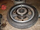 1985 kawasaki zx750 gpz750 front wheel rim with good tire