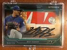 2015 Topps Strata AUTO Patch Matt Harvey Autograph # 75 Mets Logo SICK!