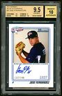 2010 Bowman Aflac Auto RC 240 Jose Fernandez BGS 9.5 POP 3 - Issued in 2012