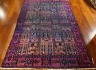 Over Dyed Vintage Blue and Pink rug 63 x 99 retro