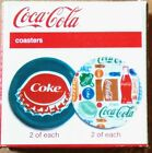 Gibson- Coca-Cola Coasters-  2 Patterns in a box set of 4