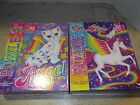 2 Lisa Frank 48 pc puzzles Angel Kitty and Skye Pegasus NEW