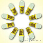10 Pack 63 Volt LED Bulb Frosted 555 Wedge Base T10 Pinball YELLOW