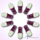 10 Pack 63 Volt LED Bulb Frosted 555 Wedge Base T10 Pinball PURPLE