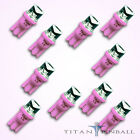 10 Pack 63 Volt LED Bulb Concave 555 Wedge Base T10 Pinball PINK