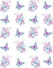 Floral Swirl  Butterfly Waterslide Water Transfer Nail Decals Nail art