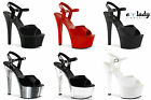 Pleaser Aspire-609 Womens Shoes Platform Sandals Stilettos High Heels Anke Strap