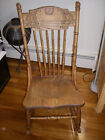 VINTAGE OAK ROCKING CHAIR - ESTATE SALE - PROFESSIONALLY STRIPPED/REFINISHED