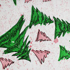 Printed Tissue Paper Christmas Spruce Pattern on white 240 Sheets