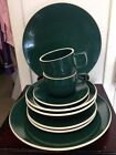 Sasaki Colorstone Hunter Green 10 Piece Set  Plates, Bowls, Cups, Saucers