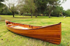Real Canoe 16 Ft Built Cedar Strip Wood Boat ,Glossy,Paddles and Cover Assembled