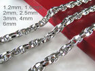 16 36 Mens Womens Stainless Steel Diamond Cut Rope Chains Gene Chains Necklace