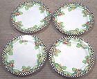 AT HOME WITH MARY ENGELBREIT HOME SWEET HOME SAKURA DINNER PLATES SET OF 4 LOT