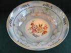 VTG BAVARIA LUSTER WARE PORCELAIN SERVING BOWL W BRIGHT MULTI COLORED FLORAL