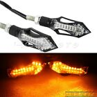 2X Motorcycle LED Turn Signal Light Indicator Lamp For Honda W/ 8mm Hole Fairing