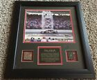 DALE EARNHARDT NASCAR INDY 500 PIECE OF TRACK FRAMED NON AUTO #ED 768 5003 RARE