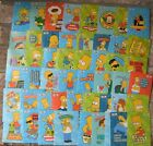 2002 TOPPS The Simpsons Collectible Sticker Cards COMPLETE Set of 50 HTF!