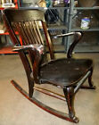 Rare Grandma's Antique Wood Rocking Chair, Estate Sale. Not Sure of Vintage Year
