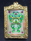 King of Butterfly With 9 Tailed Fox Lady By Kruba Krissana Thai Buddha Amulet#2