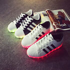 Girl Boy Couple USB Charger Luminous LED Lights Lace UP Casual Sneakers Shoes