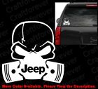 DIE CUT Skull Mask JEEP WRANGLER Logo Window Vinyl Sticker Decal Punisher RC037
