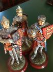 Medieval Knights Statues Set X3 Lionheart Epl 1998 Rare