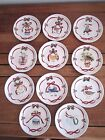 Set of 11Vintage 222 Fifth CHRISTMAS RIBBON 12 Days of Christmas 6 1/2